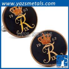 Hand painted denmark 10 ore coin cufflinks, customize cufflinks