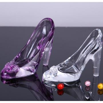 Boda decorativa Cinderella Crystal Glass Slippers