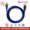 Cable de cobre RJ45, 24AWG Cat5e cable trenzado