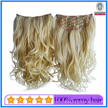Quality Guaranteed Blond Color 20inch Szie 100g Weight Curly Wave Human Hair Virgin Hair Multi Layers Clip Hair Extensions Remy Quality Hair