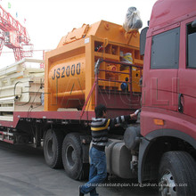 Js2000 Horizontal Twin-Shaft Concrete Mixer