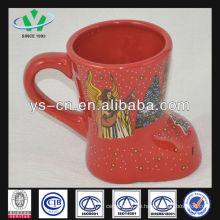 M049 keramische rote weihnachtsbecher billig