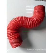 Tubo Flexible Rojo 3in Universal para Filtro de Tubería de Entrada de Aire Auto