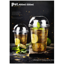 Stylish Customed Disposable Transparent Wholesale PE Cup for Juice Tea Coffee