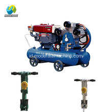 Mobile Mining Piston Air Compressor With Tank