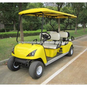 Vier Räder Electric Golf Car für zwei Personen