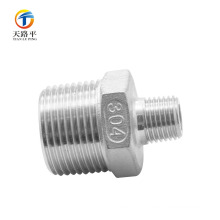 High Quality 304 Flare Male Thread Pipe Straight Connector Flared Fitting