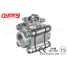 3PC Threaded Ball Valve with Direct Mounting Pad (2000WOG)