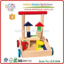 Push Baby Walker con bloques de madera