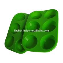 Heißer Verkauf LFGB FDA Standard Spülmaschine Safe Non-Stick Lebensmittel Grade Silikon Backen Muffin Pan Silikon Bakeware Muffin Pan