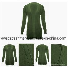 Fashion Design Women Long Cashmere Cardigan Sweater