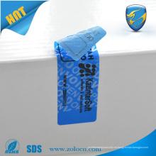 Garantía Insignia de seguridad abierta con huella abierta con logotipo personalizado