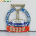 Médaille en métal avec la couleur de peinture