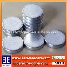 Diametric Strong Disc Sintered Neodymium Magnets/Zinc coating neodymium magnet for sale
