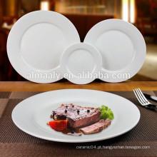 atacado granel prato de jantar, placa de massa de porcelana branca