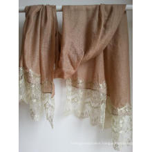 Cashmere Diamond Shawl Lace Trimed