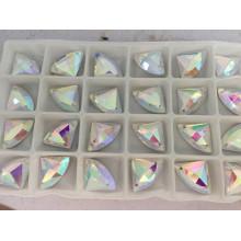 Perles de strass à dos plat en couleur pour robe
