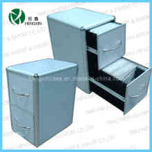 Aluminum Frame 2 Drawers CD Case&Box&Cabinet (HX-P1386-2)