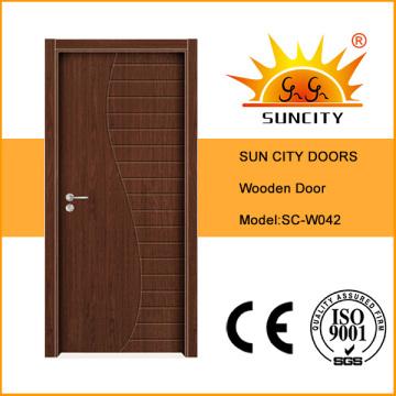 Современный образец дизайн сплошной заподлицо деревянные двери (СК-W042)