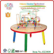 Kids Wooden Beads Rack Beading Table Desk