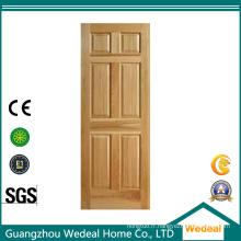 Porte en bois massif traditionnelle de haute qualité à six panneaux