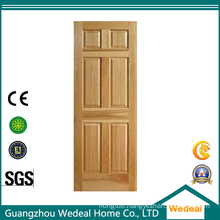 Wooden Veneer Raised Panel Classical Rail and Stile Door Factory