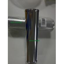3inch poliertes gerades Aluminiumrohr mit Perle 300mm Länge Universalauto Lufteinlassrohr