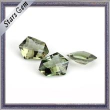 Forme spéciale Olive couleur bien polir Crystal Glass