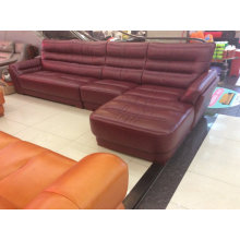 Red Wine Color Leather Sofa, Living Room Furniture (A-37)