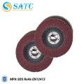 discos de flao abrasivos de óxido de alumínio vermelho para polimento
