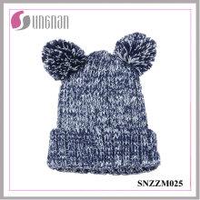 2015 moda adorável urso orelhas grossas acrílico malha chapéus (snzzm025)