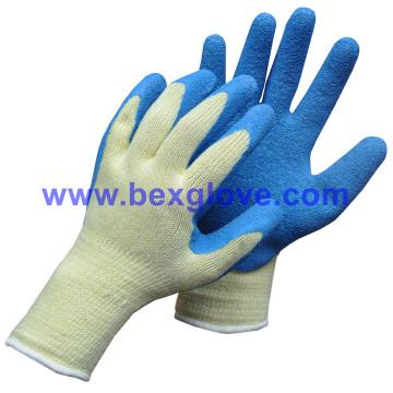 10 Guage Polyester Work Glove, Latex Garden Glove