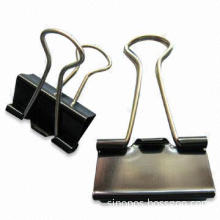 Standard Metallic Black Blinder Clips of Foldback Style, to Organize Office Documents, Files, Papers