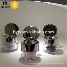 Pot de crème acrylique 15g avec capuchon de miroir