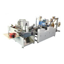 Handle pasting machine for paper bags
