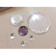 Large Round Flat Back Stones Beads Transparent