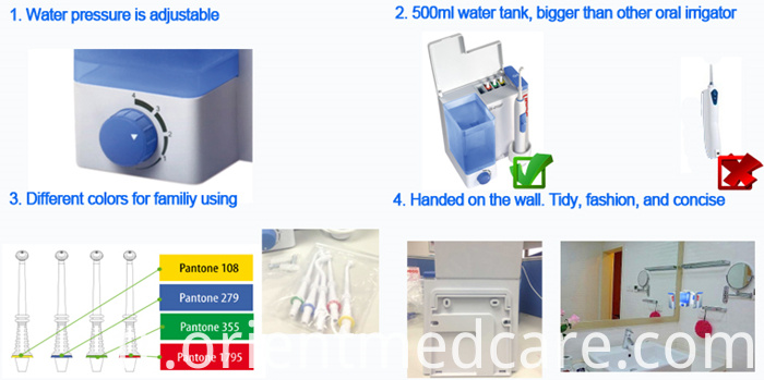the features of water flosser