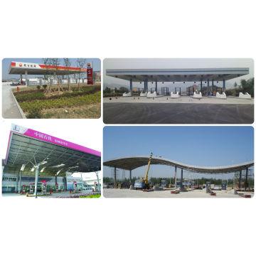 Techo de gasolina / techo de gasolina prefabricado de bajo costo