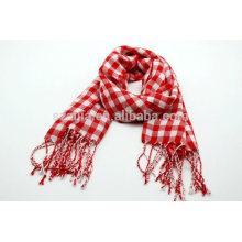 Moda senhoras vermelho algodão tartan lenços palid