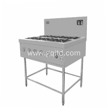Stainless steel body gas stove with electric oven