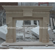 Beige Marble Fireplace Surround (SY-MF030)