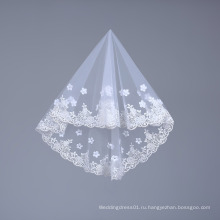 Ручной работы короткие тюль фата для невесты свадьба