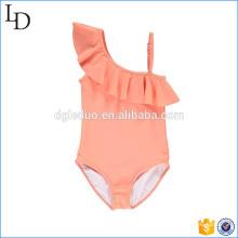 Fora do ombro design biquíni swimwear atacado para crianças girs desgaste