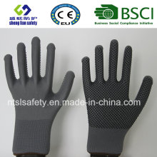 Poliéster Shell PVC Dots Safety Work Glove