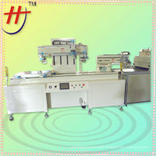 Free table silk screen printer with IR drying and unloading system