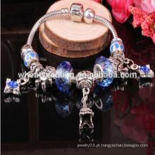 2015 Novo produto charme grânulos cristal grânulos pulseira europeia