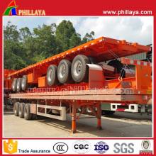 3 Achsen Plattform Auflieger LKW mit Container sperren