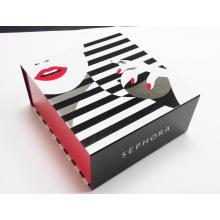Caixa de embalagem de cartão dobrável de maquiagem colorida