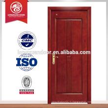 Conception simple conception de porte en bois moderne mélamine pour les ventes