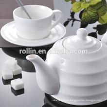 Hotel & Restaurant placas de cerámica blanca, platos de vajilla al por mayor, porcelana vajilla placa